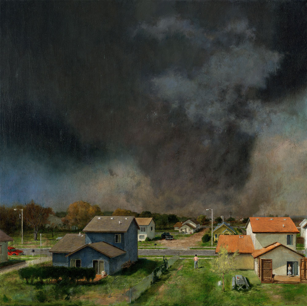 Backyard Philosophy, 36 x 36, oil on canvas, 2007