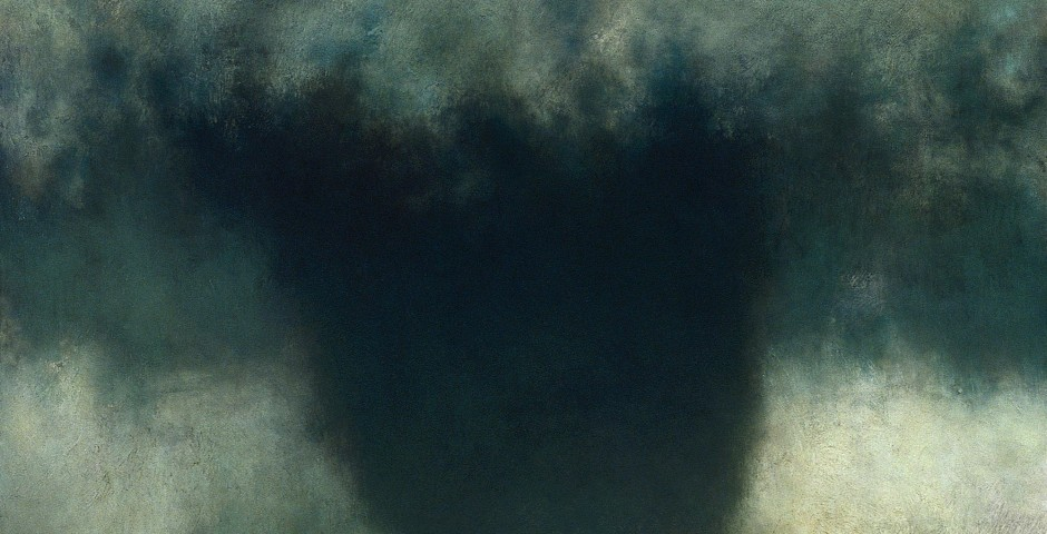 Black, 48 x 48, oil on canvas, 2003
