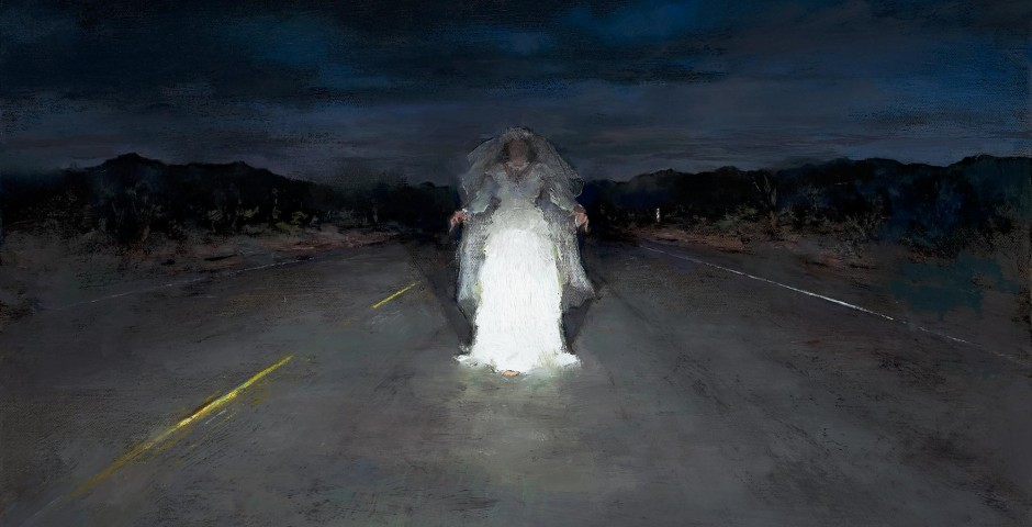 Bride in Headlights, 12 x 18, oil on canvas, 2011