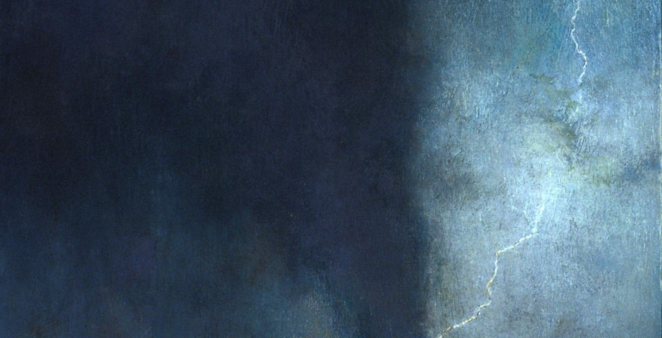 By Lightning, 48 x 24, oil on canvas, 2005