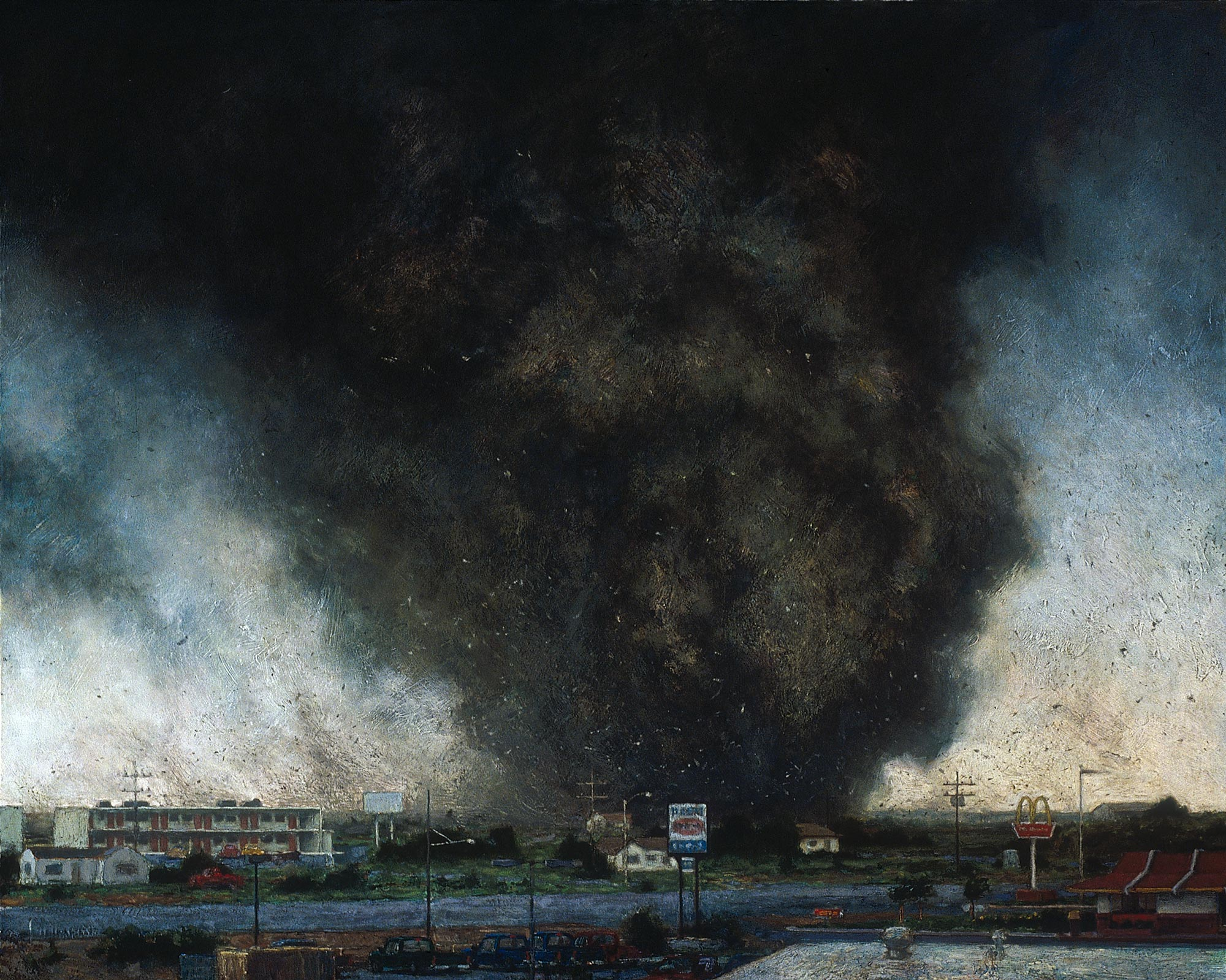 Cleaning, 48 x 60, oil on canvas, 2003