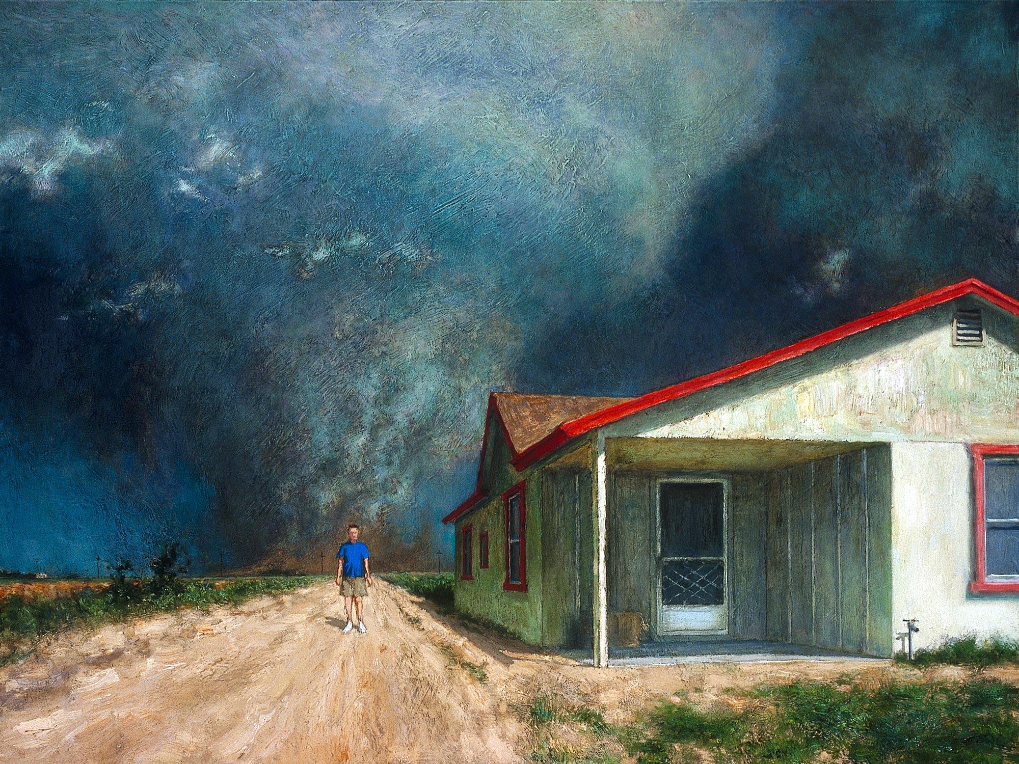 De Chirico, TX,  36 x 48, oil on canvas, 2003