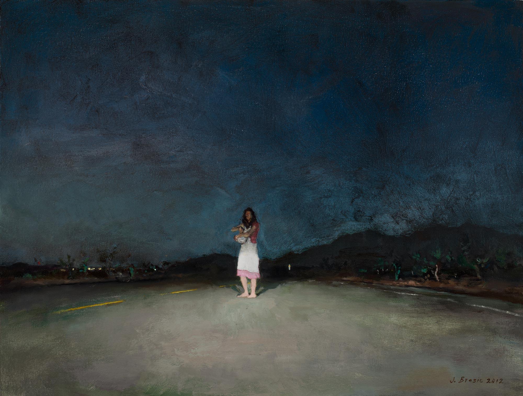 Desert Road, 16 x 24, oil on canvas, 2012