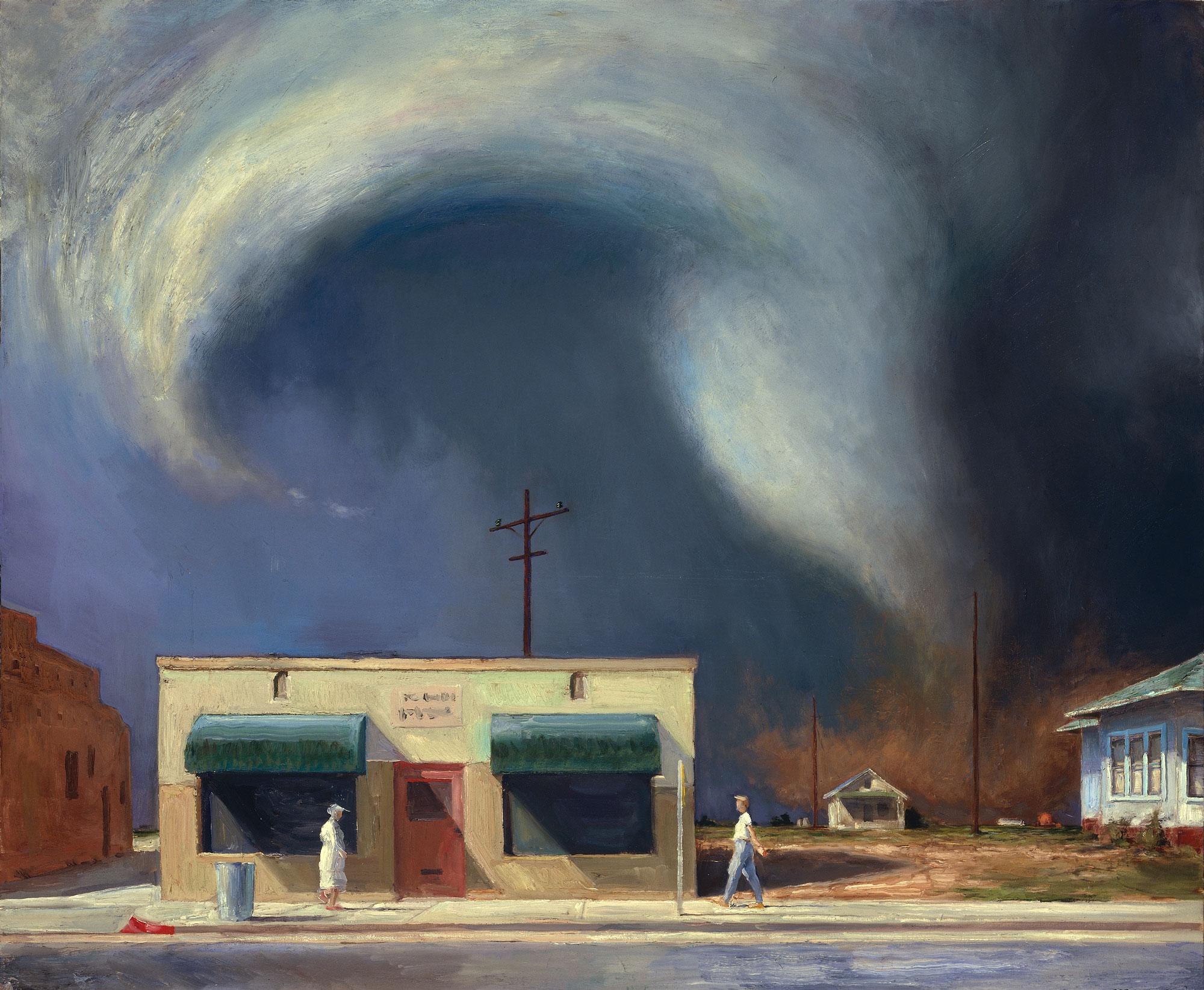 EdgeofTown2, 50x60, oil on canvas, 1998