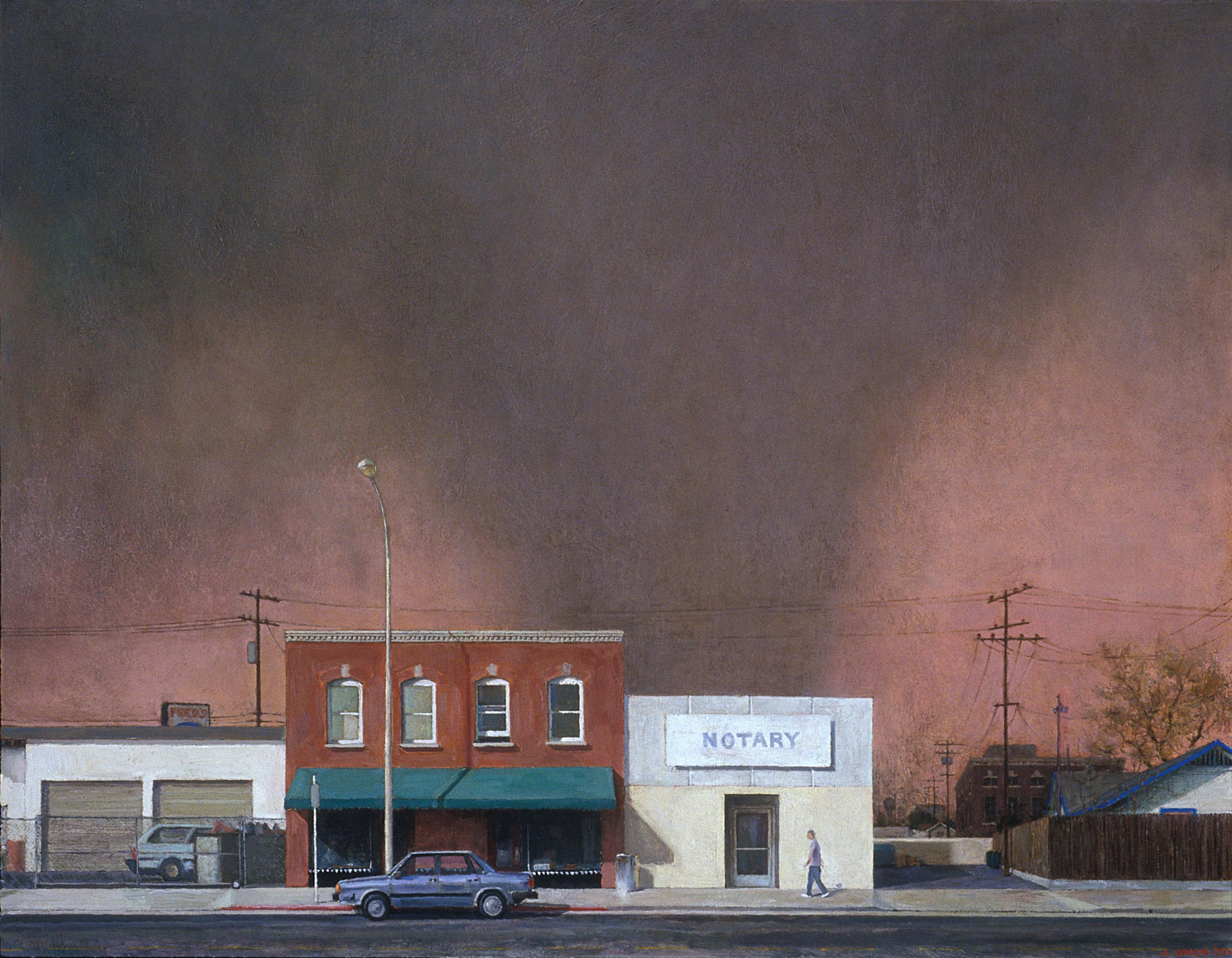 Edge of Town 5, 42 x 54, oil on canvas, 2003