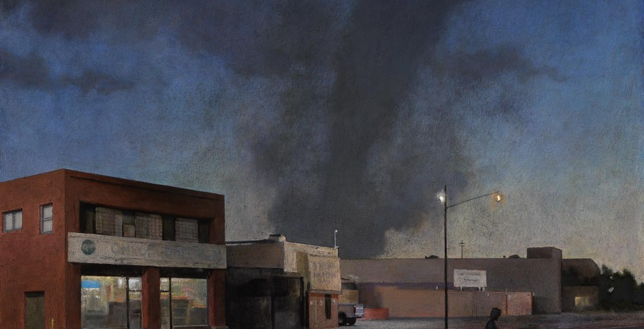 Edge of Town 8, 35 x 42, oil on canvas, 2007
