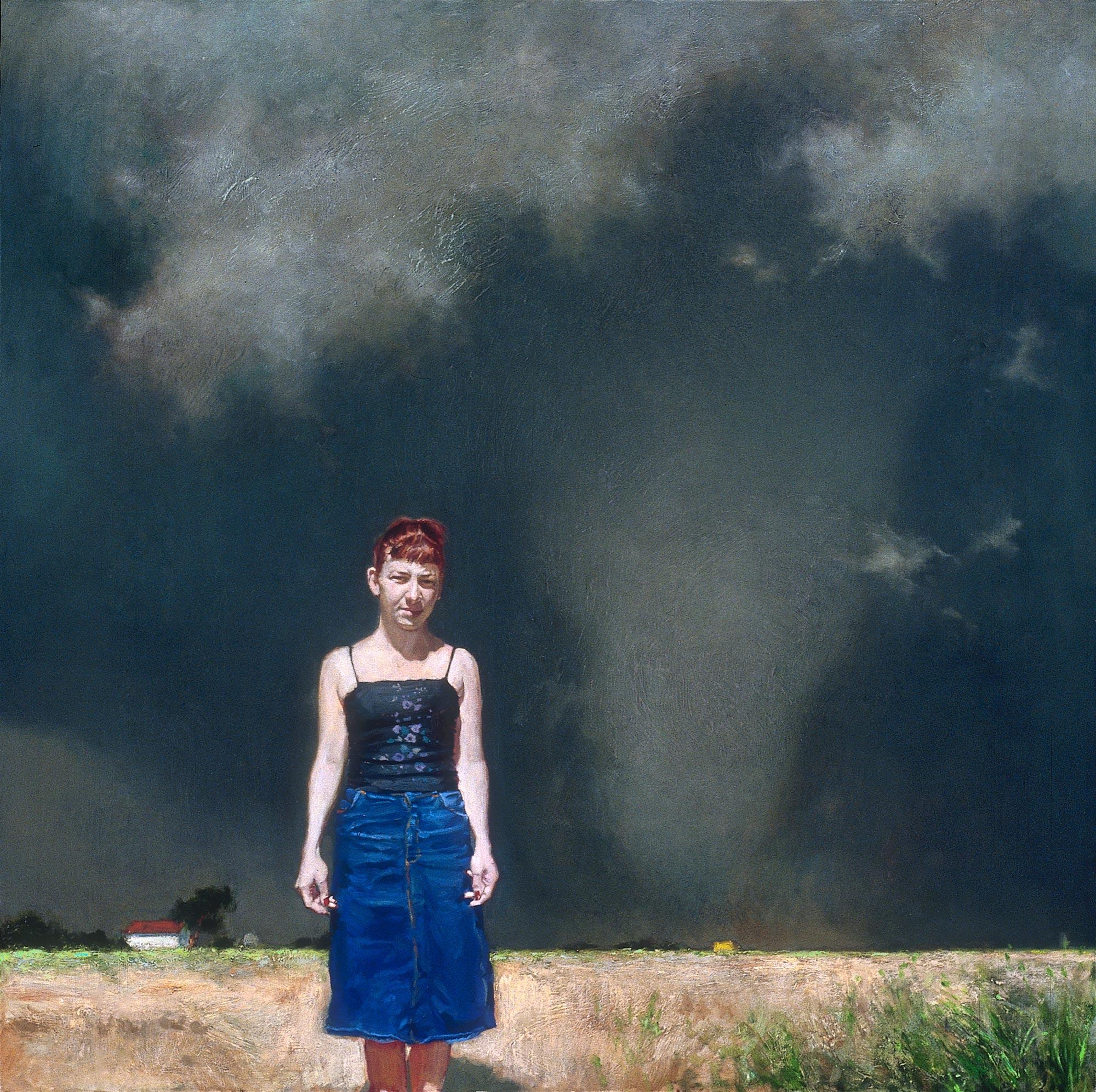Envoy, 48 x 48, oil on canvas, 2002