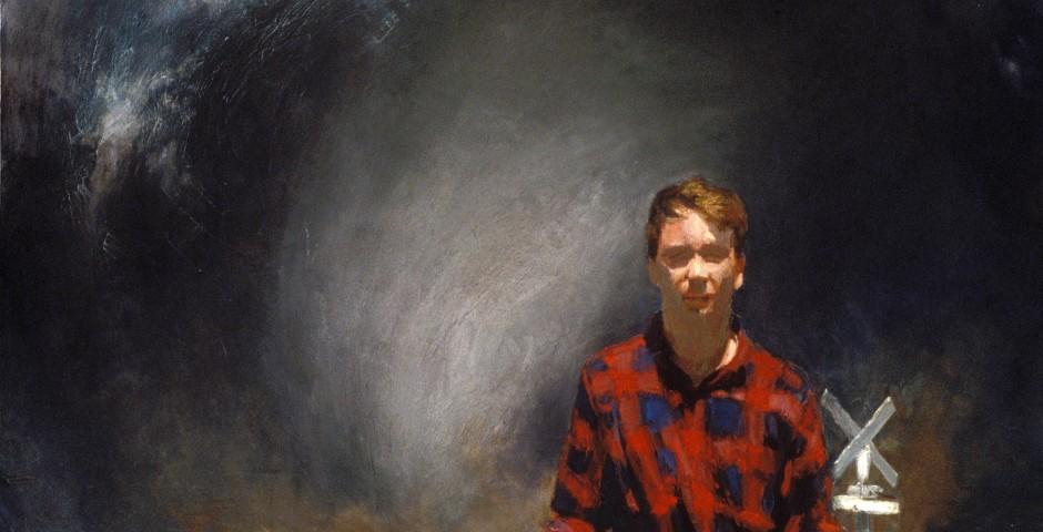 Harbinger (Self Portrait), 18 x 18, 1995