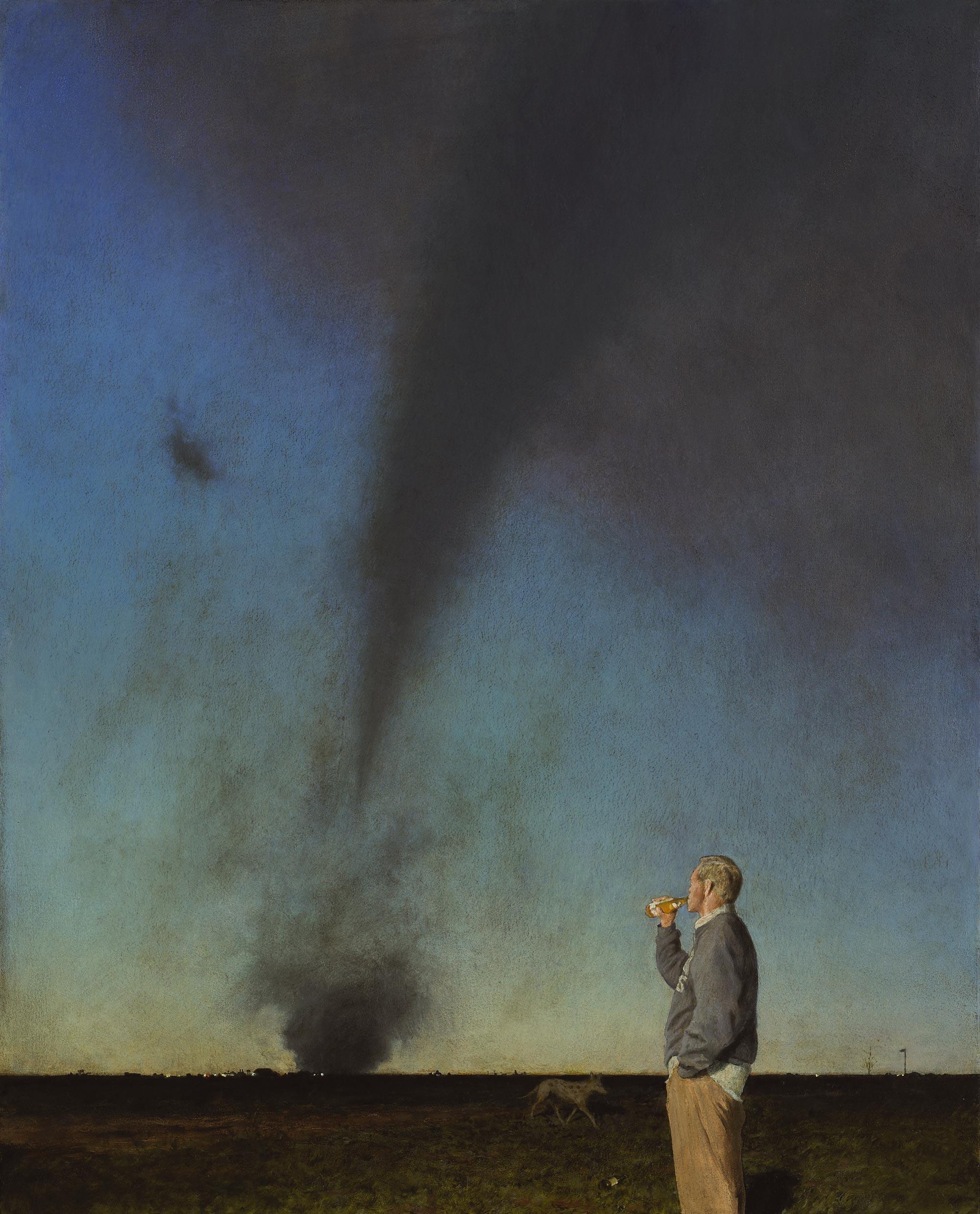 Jerk in a Field, 36 x 29, oil on canvas, 2008