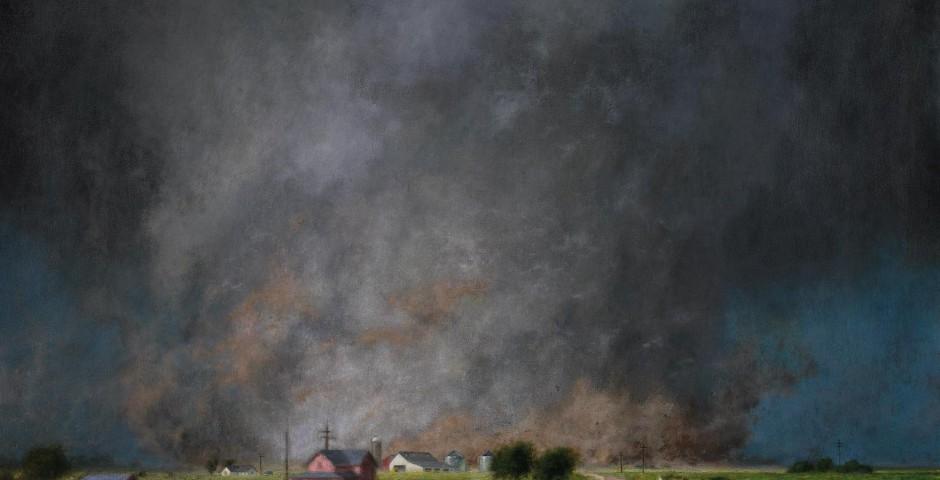 Kansas Farm, 38 x 55, oil on canvas, 2007