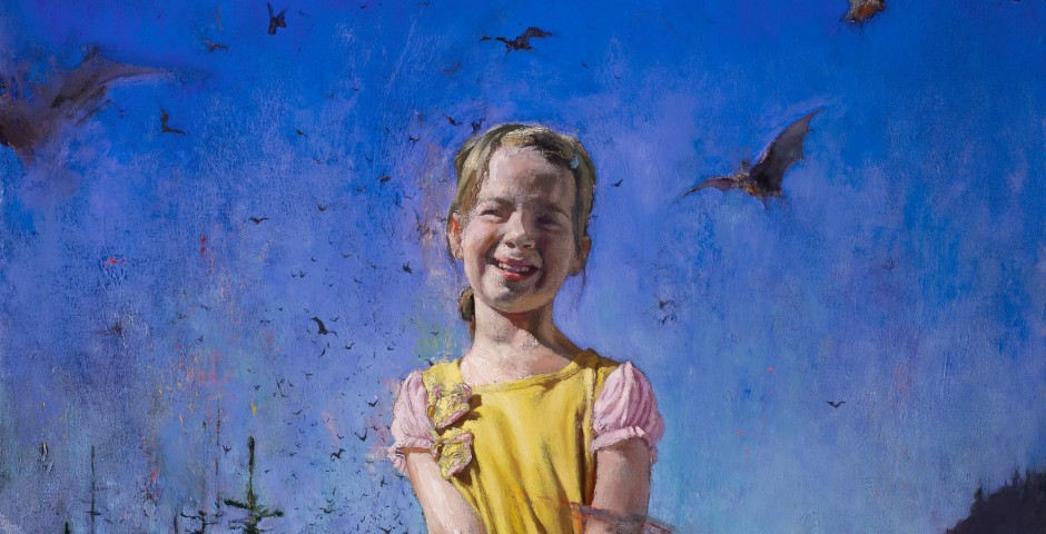 Little Girl with Bats, 48 x 36, oil on canvas, 2012