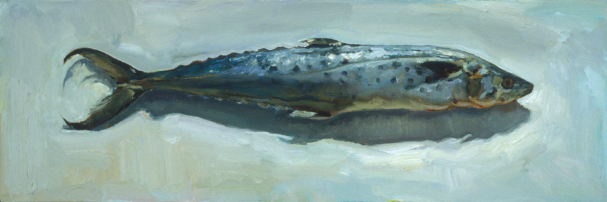 Mackerel, 12 x 36, oil on canvas, 2004