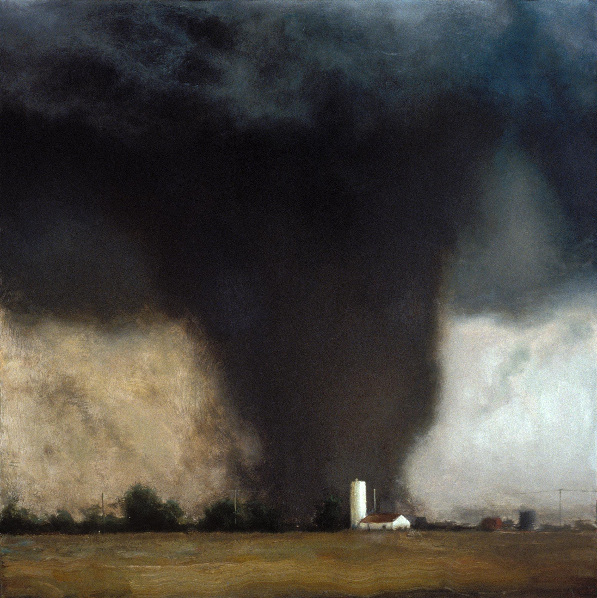 Oklahoma Twister, 48 x 48, oil on canvas, 2002