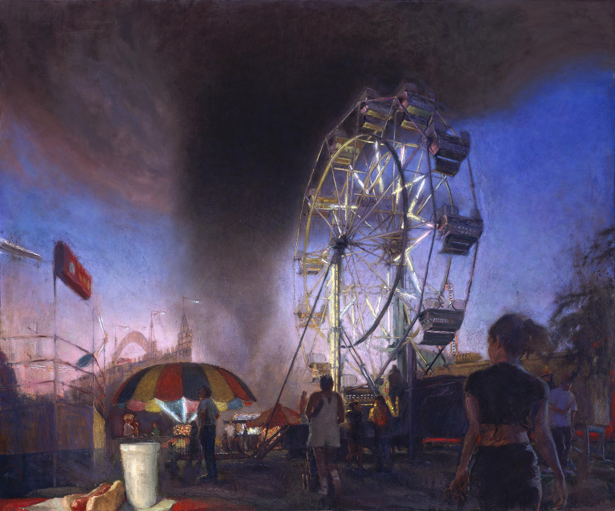 Rides 2, 60 x 72, oil on canvas, 2000
