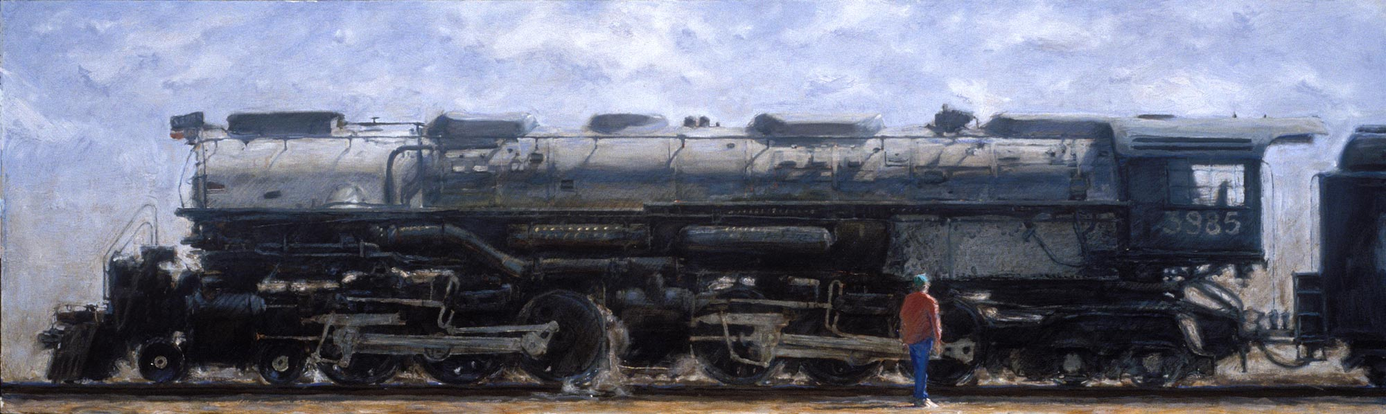 U P Challenger 3985, 19 x 63, oil on canvas, 1995